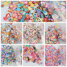 Beauty 1000Pcs 3D Nail Art Fimo Canes Stick Rods Polymer Clay Stickers Tips Deco