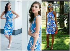 ZARA floral tropical dress tulip blue Bloggers Favourite Sold Out Extra Small XS