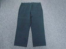 EILEEN FISHER Black Cotton Blend Casual Elastic Waist Cropped Pants Size L 2461A