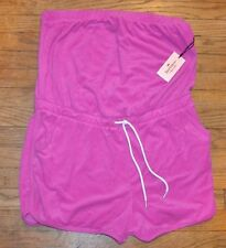 Juicy Couture Terry Cloth Romper Coral Glow Tropical Fuscha Summer Shorts