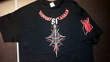 HELLS ANGELS CANAAN MAINE SUPPORT  BLACK T'SHIRT  PINSTRIPE