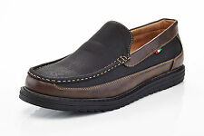 mens slip on casual boat shoes loafers spring summer black & brown comfort
