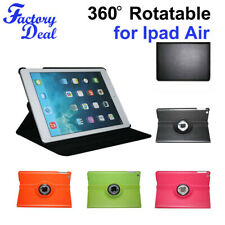 360 Degree Rotating PU Leather Smart Case Cover Stand for Apple iPad Air