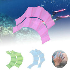 Hands Swimming Fins Silicone Webbed Flippers Swim Training Paddle Dive Gloves