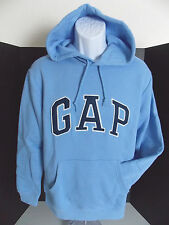 GAP Men's Light Blue Arc Logo Hoodie Sweatshirt Size XS NWT