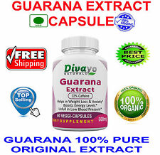Guarana Extract 500 mg Capsules Best Selling Product by Divayo Naturals