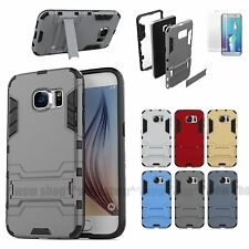 Kickstand Double Layer Case Cover Screen Protector For Samsung Galaxy S7 S8 S8+