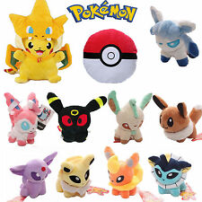 Pokemon Evolution of Eevee Pikachu Figure Plush Soft Stuffed Toy Doll Collection