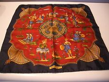 "AMAZING COLORFUL SALVATORE FERRAGAMO SILK SCARF MADE IN ITALY 16""x16"""