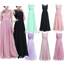 Women Fashion Wedding Bridesmaid Evening Party Formal Cocktail Prom Gown Dress