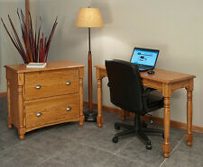 Home Office Lateral Filing Cabinet Solid Oak Country Style #8836