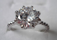 Lot Size 5-9 women white sapphire cz 10kt yellow&white gold filled GF ring