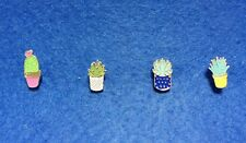 Cacti Succulent Hat Lapel Pin Brooch Agave Aloe Echinopsis Cactus Scarf Gold