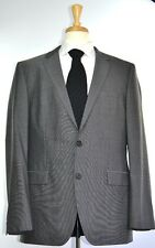 Hugo Boss Mens 2-BTN Grand/CentralUS_1 Super 100 Wool Suit Size 44 L NEW $995