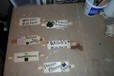 Kitchen Witch Rolling Pin Signs  Hand made