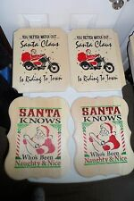 Hand Made Stenciled Wooden Signs Christmas Themes various Sizes and styles