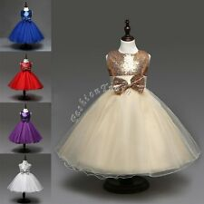 Pageant Flower Girl Kid Birthday Party Wedding Bridesmaid Gown Formal Dress 2-14