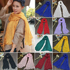 Women Scarf Wrap Shawl Scarves Long Soft Cotton Lady Fashion Stole Candy Colors