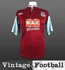 Bukta West Ham United Home Football Shirt Kit Top 1990/91 (Size: S) WHUFC