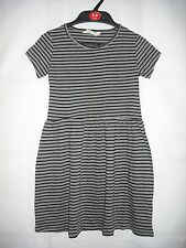 BNWOT H&M Grey and Black Stripe Jersey Summer Dress. Girls. Age 2-12 Years