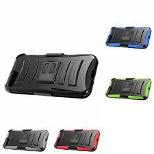 HEAVY DUTY MILITARY Protector Rugged Armor With Clip Holster For Apple Phones