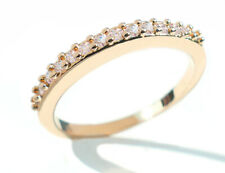 Simulated Diamond Half-Eternity Band 24k Yellow Gold Filled Ring.