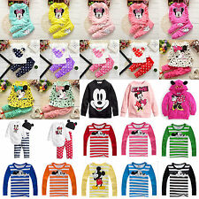 Baby Kids Girls Boys Disney Minnie Mickey Mouse Hoodies Tops Jacket Outfits Set
