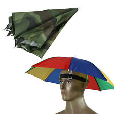 Outdoor Foldable Sun Umbrella Hat Golf Fishing Camping Headwear Cap Head Hat#V1