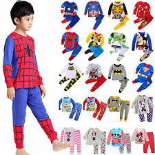 Toddler Kids Boy Long Sleeve Shirt Top+Pants Spiderman Tracksuit 2Pcs Outfit Set