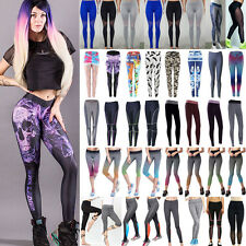 Womens Compression Leggings Stretch Yoga Running Gym Workout Sport Trousers Pant