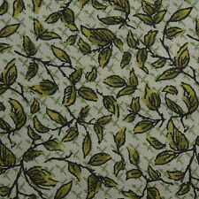 Quilt Fabric Cotton Calico FQ Green Tossed Leaves Fat Quarter or Cut-to-Order