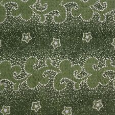 Quilting Fabric Cotton Calico FQ Green Scrolls by Virginia Robertson Fabri-Quilt