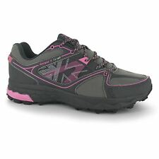 Karrimor Tempo 4 Trail Running Shoes Womens Gry/Char/Pnk Trainers Sneakers