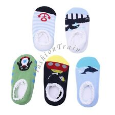 5 Pair Unisex Baby Boys Girls Low Cut Non-Slip Walking Shoes Slippers Grip Socks