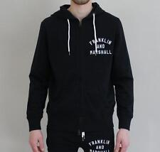 BNWT Mens Franklin Marshall Slim Fit Tracksuit Hoodie - Black - NEW COLLECTION
