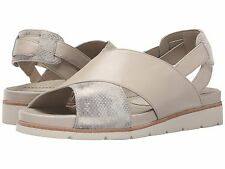 New Women`s Earth Santorini Earthies Leather Sandals Off-White Soft Calf MSRP130