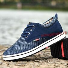 Mens Fashion Sport Sneakers Breathable Lace-up Hidden heel Casual Loafers Shoes