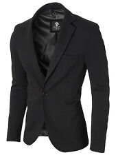 MODERNO mens slim fit knitted cotton sport coat blazer (MOD14513B)