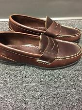 SPERRY TOP SIDER Dark Brown Leather Round Toe Casual Slip On Loafers Sz 8 B3867