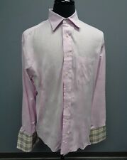 BURBERRY LONDON Light Pink Cotton Button Down Dress Shirt Size 16.5 L SM12777