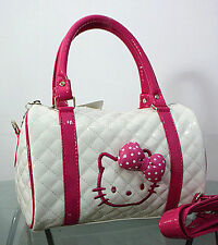 New Hellokitty Handbag Bright Black Small Shoulder bag Purse KT48068B7