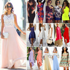 Womens Boho Sundress Party Evening Cocktail Summer Beach Long Maxi Dress Tops