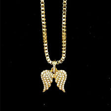 Little Angel Angel Wings Crystal Pendant Alloy Chain Necklace Wedding Gifts New