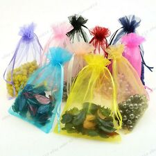 10/100Pcs Gauze Organza Gift Bag Jewelry Packing Pouch Wedding Favor Gift Bags