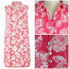 New Ex White Stuff Summer Blooms Tunic Shirt Dress in Strawberry Pink 8 to 18