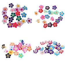 20Pcs Charms Flower Polymer Clay Spacer Beads for DIY Necklace Bracelet Makings