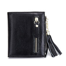 Women Short Wallet Genuine Leather Simple Leather Purse Money Clips Coin Purse