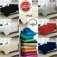 100% Egyptian Cotton Bedding Sets Duvet Cover Sets Fitted Flat Sheets All Sizes