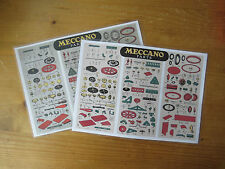 Meccano Parts - Dealer Cabinet Parts Card (copy). Medium Red/Green Period