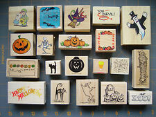 HALLOWEEN & FALL RUBBER STAMPS * WONDERFUL SPOOKY DESIGNS * SU & MORE ~ YOU PICK